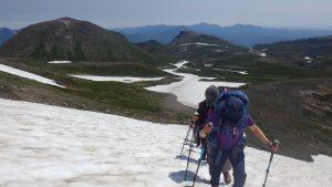 大雪山縦走登山1