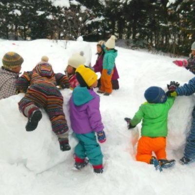 園雪遊び1