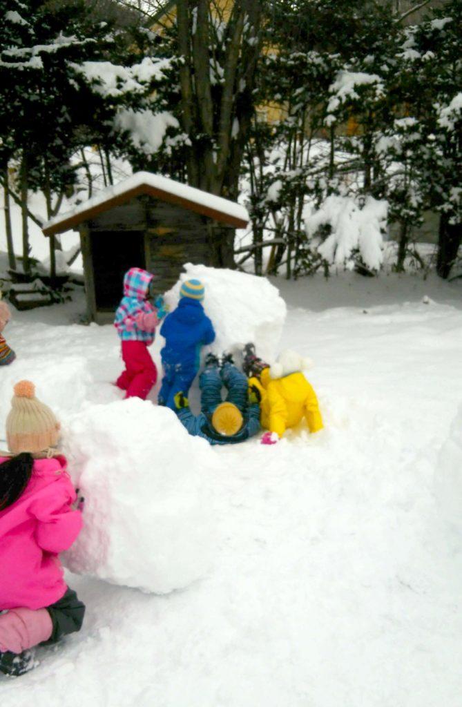 園雪遊び2